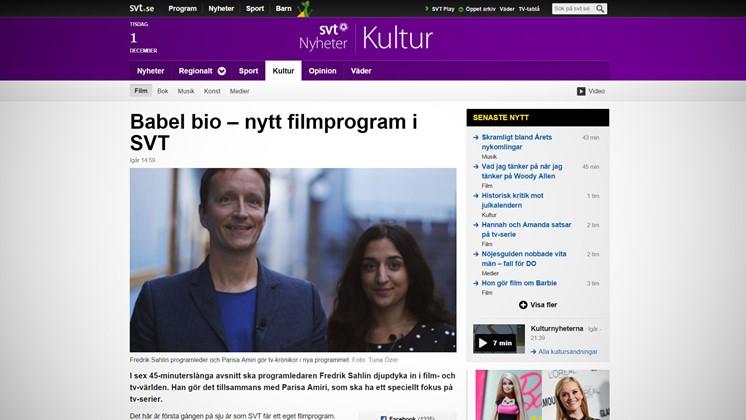 Babel bio – nytt filmprogram i SVT