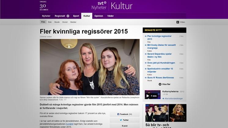 Fler kvinnliga regissörer 2015