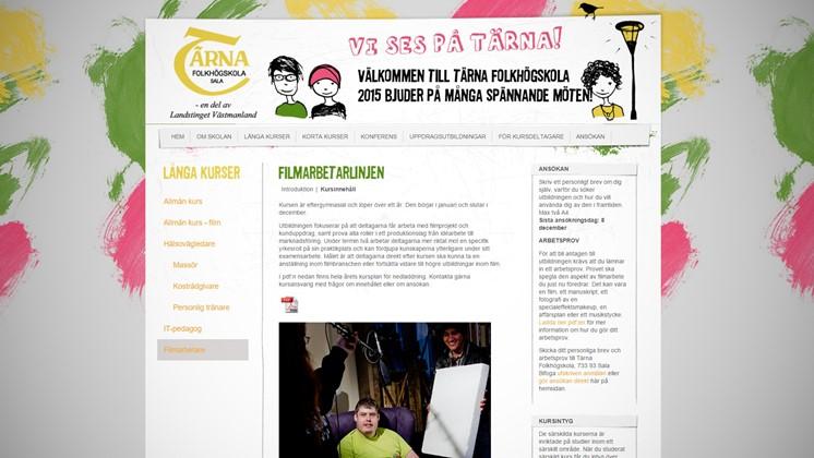 Sök in till filmarbetarlinjen på Tärna folkhögskola