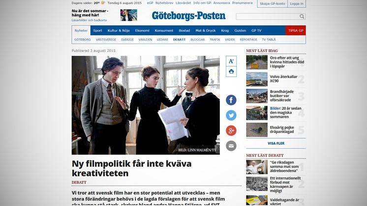 Ny filmpolitik får inte kväva kreativiteten