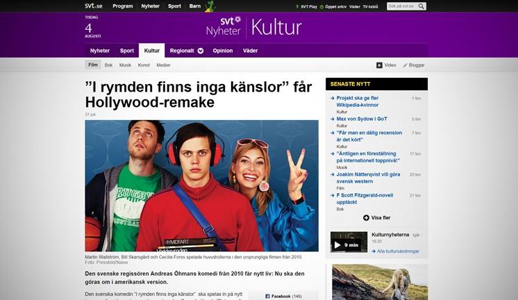 """""""I rymden finns inga känslor"""" får Hollywood-remake"""