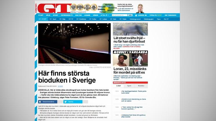 Här finns största bioduken i Sverige