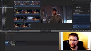 Se hur han klipper långfilmen direkt på tidslinjen