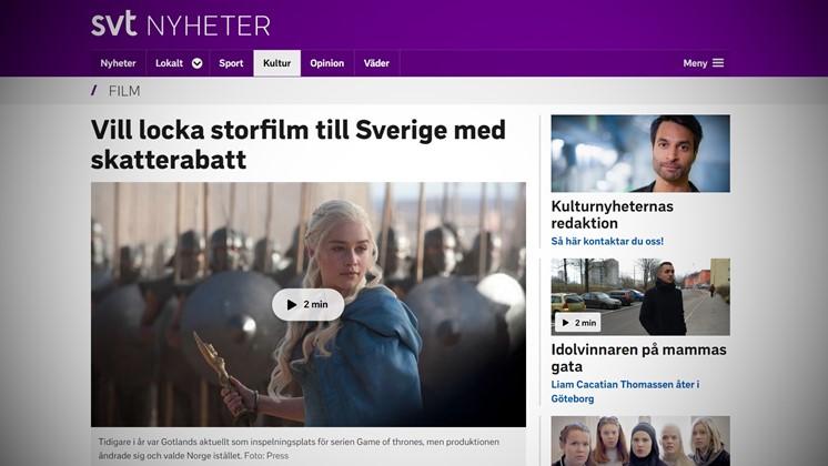Vill locka storfilm till Sverige med skatterabatt
