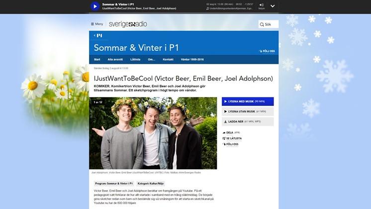 YouTube-profilerna IJustWantToBeCool i P1 Sommar