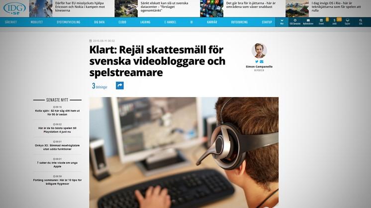 Klart: Rejäl skattesmäll för svenska videobloggare och spelstreamare