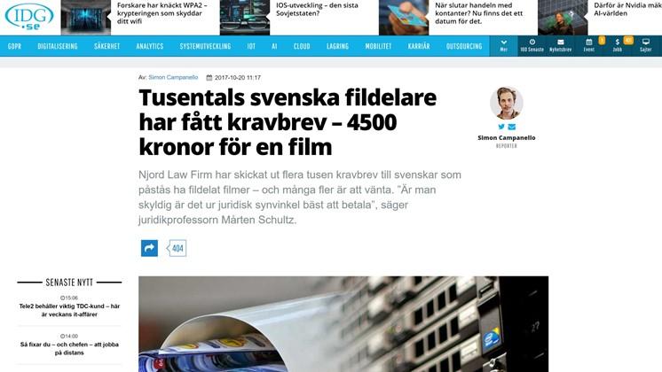 Tusentals svenska fildelare har fått kravbrev – 4500 kronor för en film