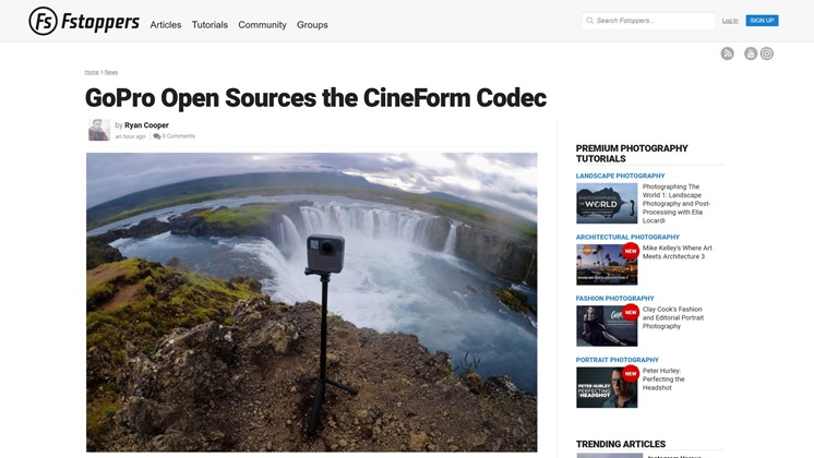 GoPro Open Sources the CineForm Codec