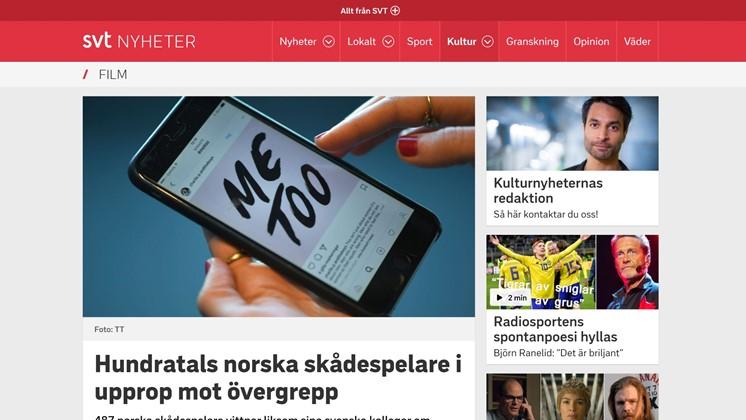 Hundratals norska skådespelare i upprop mot övergrepp