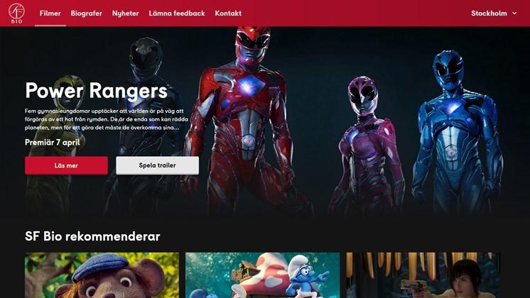 Nu vill SF Bio att du tycker till om deras nya hemsida