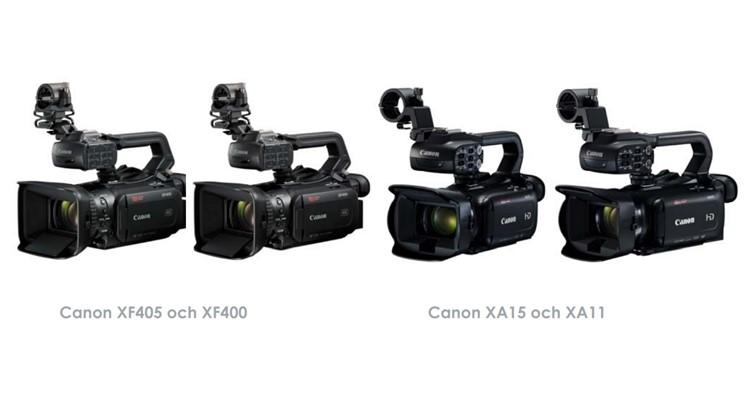 Fem nya kameror från Canon