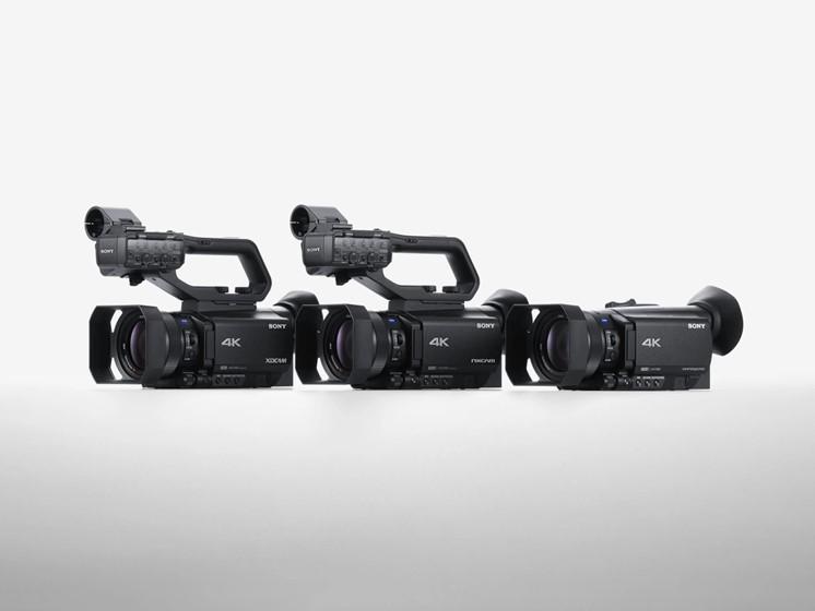 Sex nya videokameror från Sony