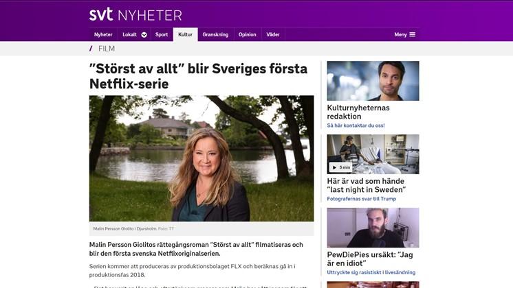 """""""Störst av allt"""" blir Sveriges första Netflix-serie"""