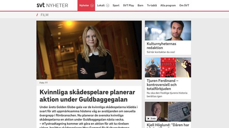 Kvinnliga skådespelare planerar aktion under Guldbaggegalan