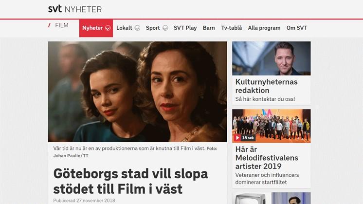 Göteborgs stad vill slopa stödet till Film i väst