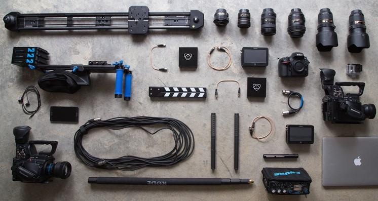 Den här utrustningen behöver du för att spela in en film