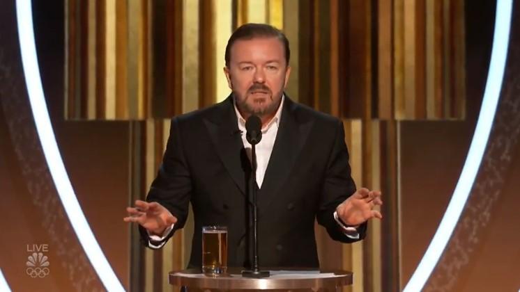 Ricky Gervais attackerar allt och alla på Golden Globe