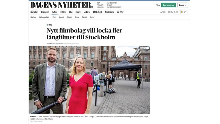 Nytt filmbolag vill locka fler långfilmer till Stockholm
