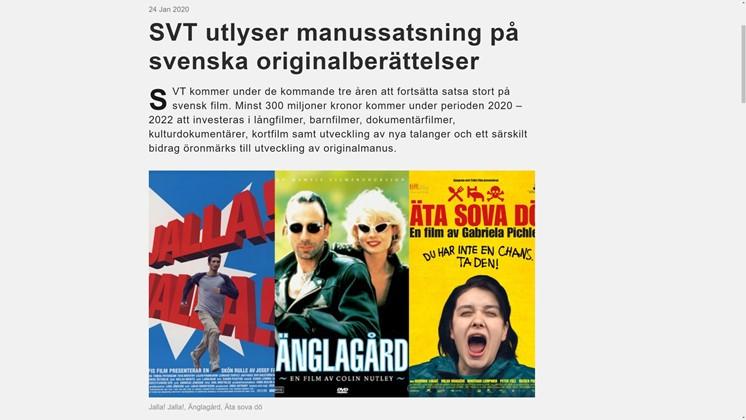 SVT söker ditt filmmanus – få 450 000 kronor för manusutveckling