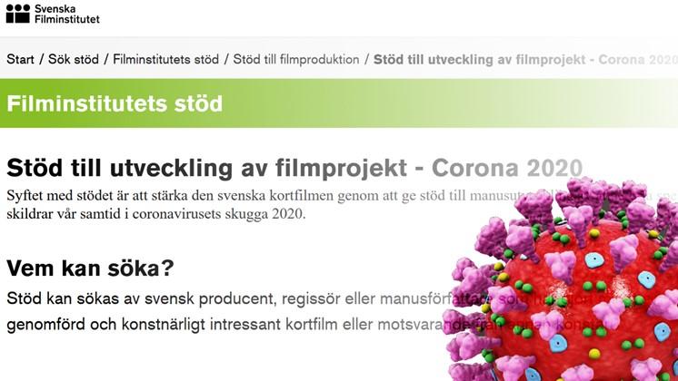 Stöd till manusutveckling för kortfilmer som skildrar coronakrisen