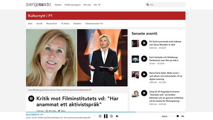"Kritik mot Filminstitutets vd: ""Har anammat ett aktivistspråk"""