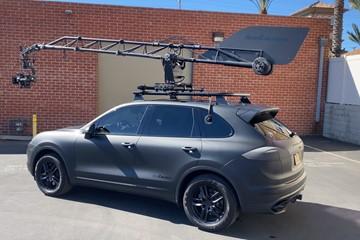 Imponerande Porsche Cayenne byggd för filminspelning