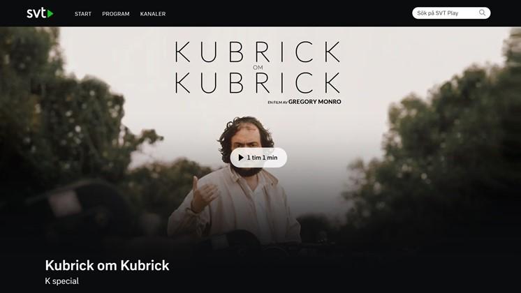Regissören Stanley Kubrick på SVT Play