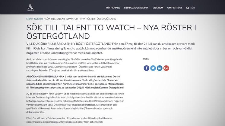 Få pengar till din kortfilm i Östergötland i sommar