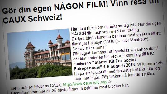 Gör kortfilm och tävla om en veckas resa till Schweiz