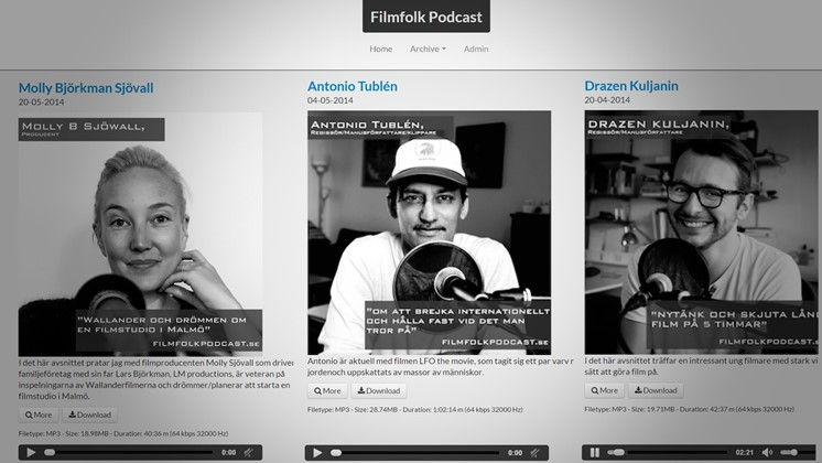 Lyssna på intervjuer med filmarbetare i Filmfolk Podcast