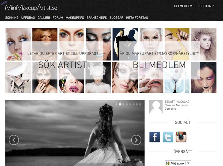 Ny mötesplats för makeupartister på nätet