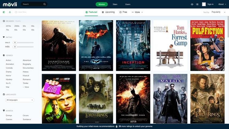 Movli hjälper dig att hitta nya favoritfilmer