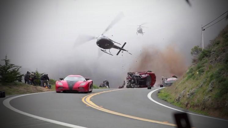 Biljakter i Need for Speed spelas in utan datoreffekter