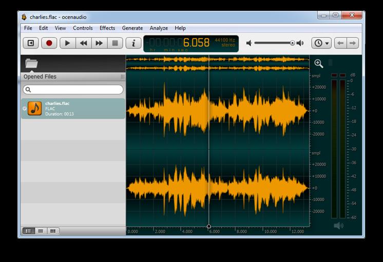 Ocenaudio är ett snabbt och enkelt redigeringsprogram för ljud