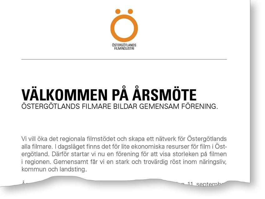 Filmare i Östergötland bildar egen förening