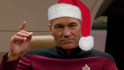 God jul önskar Voodoo Film (och Captain Picard)