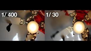 Video som förklarar skillnaden mellan slutarhastighet och bildfrekvens