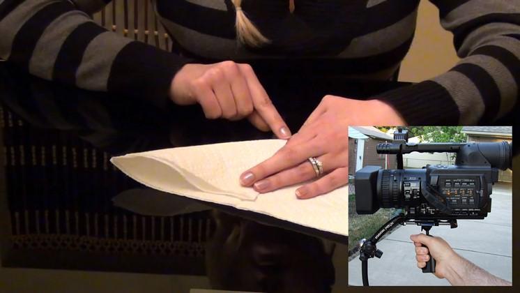 Så gör du en enkel kamerastabilisator med en servett