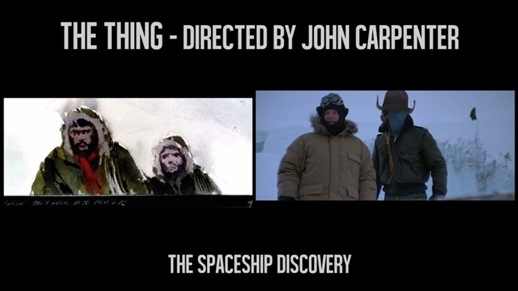 The Thing från storyboard till film