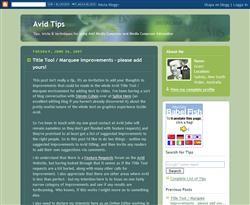 TGIF: Tips för Avid-redigerare