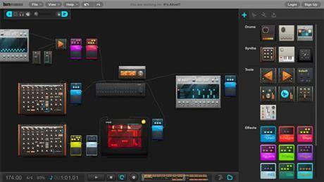 Burn Studios Audiotool låter dig göra musik direkt på webben