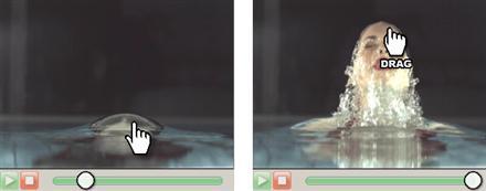 Manipulera video genom att dra och släppa motiv i bilden