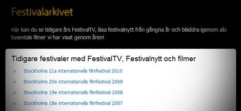 Läs om alla filmer sedan starten av Stockholm filmfestival