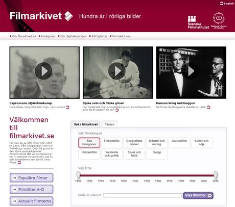 Filmarkivet samlar pärlor från svenska filmhistorien