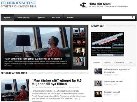 Filmbransch.se ny webbplats om filmbranschen