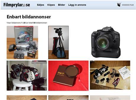 Överblicka enkelt bildannonserna på Filmprylar.se