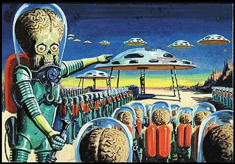 Mars Attacks originalkonst sålt för 70 000 dollar