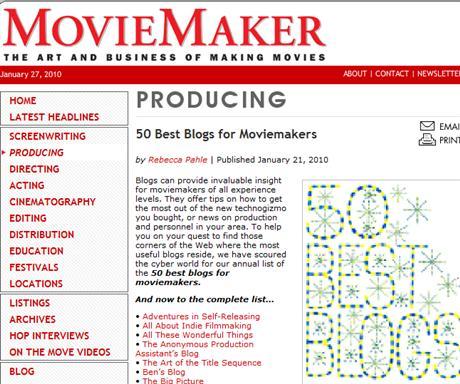 50 bästa bloggarna för filmskapare