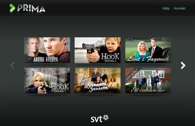 SVT visar tv-serier på nätet i hd-kvalitet