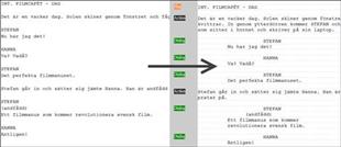 Snyggt formaterat manus från vanlig text